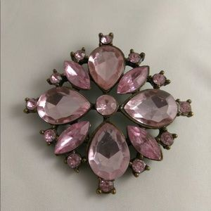 Jewelry - Pink Crystal Brooch Starburst Classic Design